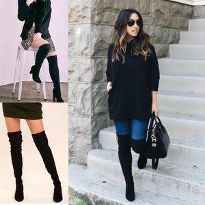 UNISA Black Over the Knew • High Sassy Black Boots